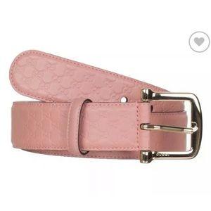 Gucci Microguccissima Pink Belt Authentic